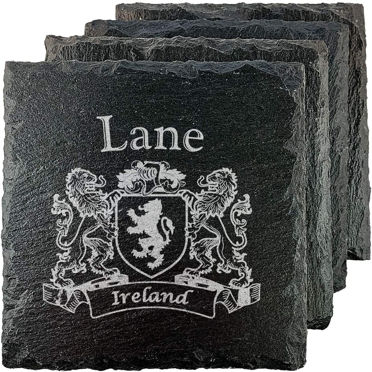 Lane Irish Coat of Arms Slate Coasters - Set of 4