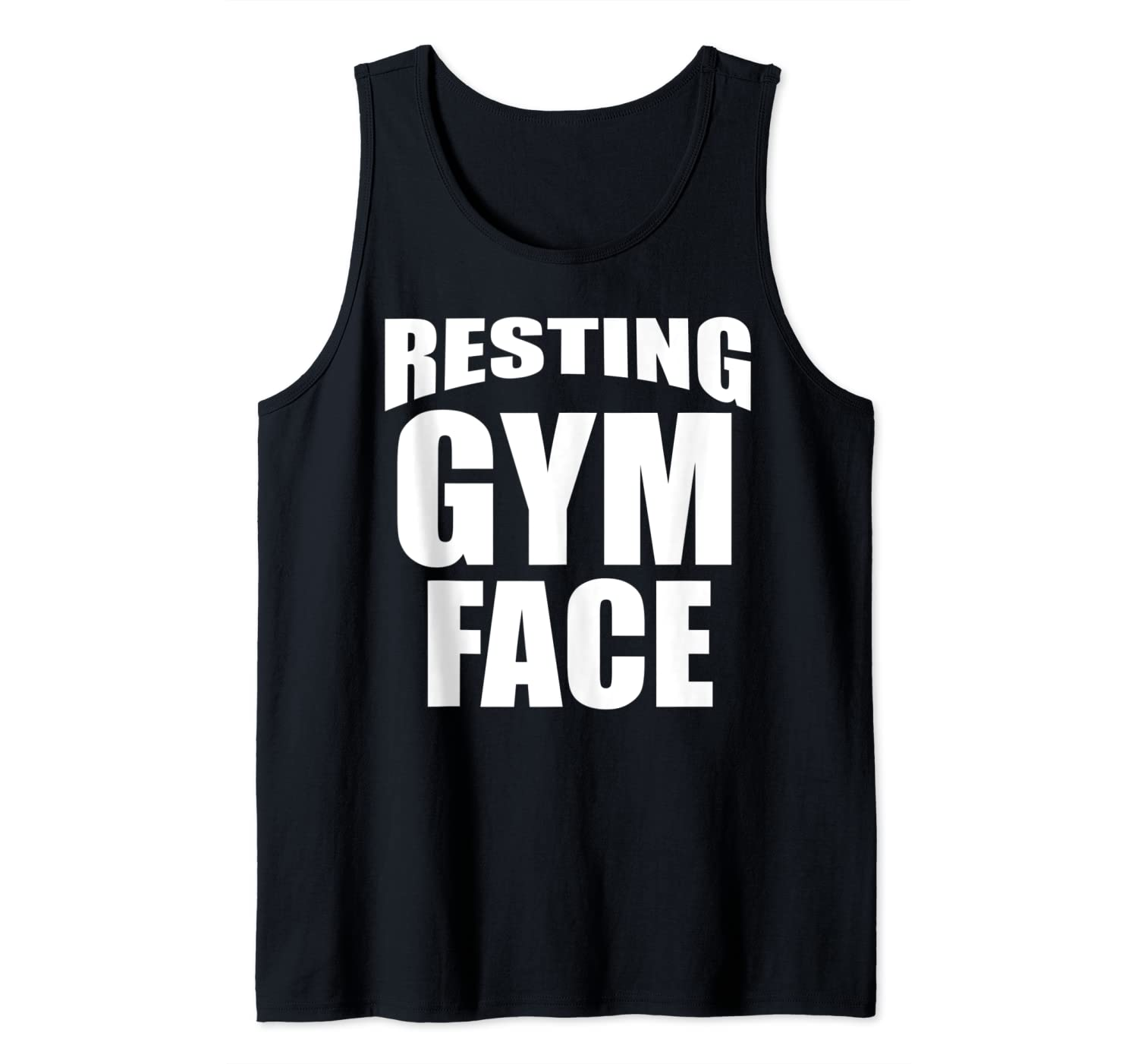 Resting Gym Face Funny Women Workout Fitness Training Gift Tank Top