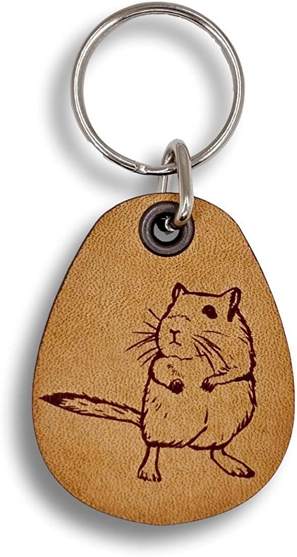 ForLeatherMore - Gerbil - Genuine Leather Keychain - Pet Key Fob