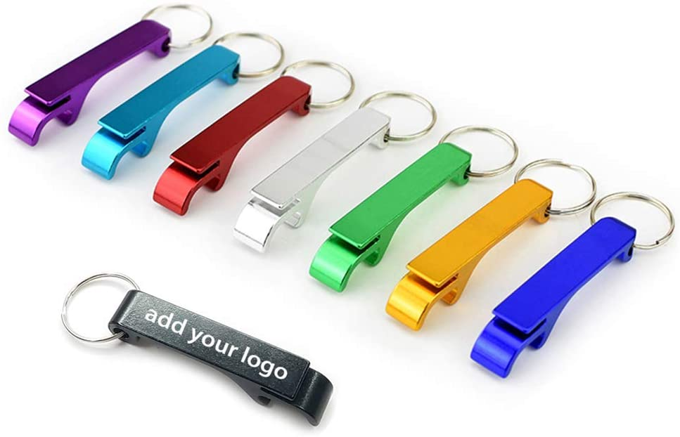 50pcs Personalized Aluminum Bottle Openers Versatile Durable & Colorful, Great for Company Events, Wedding, Brewery,Christmas Customized Bottle Openers