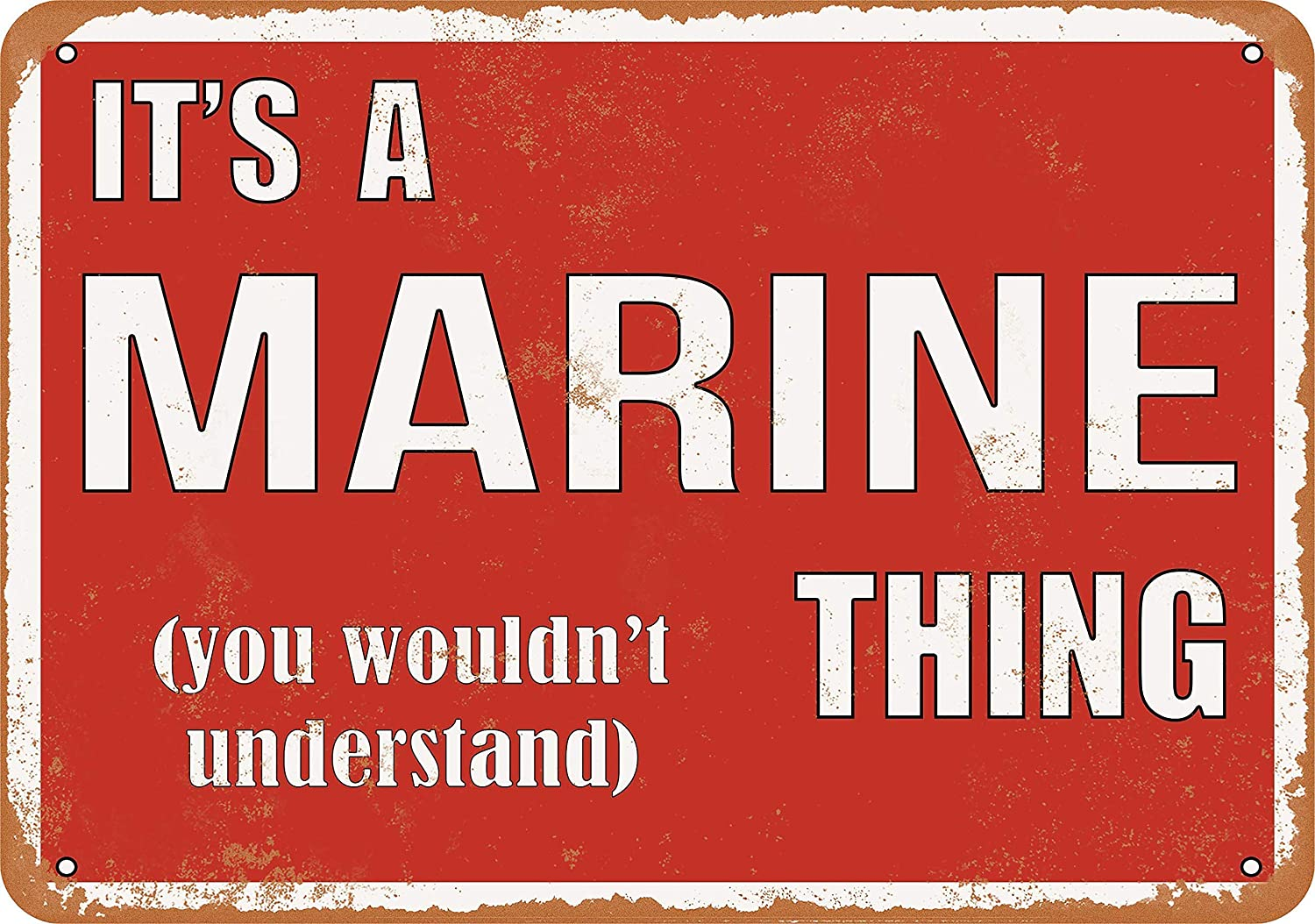 Feddiy Aluminum Indoor Outdoor Yard Sign Art Poster Aluminum Metal Sign Wall House Sign Decorations Gift Sign 12 X 8 Its A Marine Thing