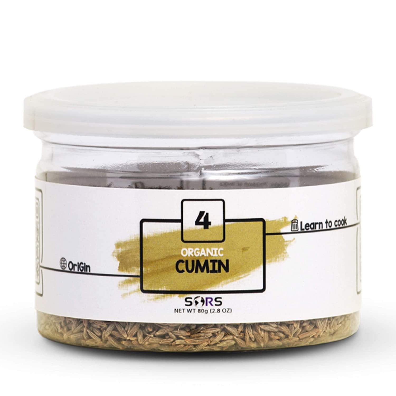 Sors Organic Cumin Seeds Whole (Jeera) Spice, 2.8 oz