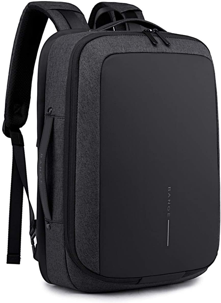 FANDARE Backpack Business Daypack for 15.6 inch Laptop Slim Knapsack with USB Charging Port for Women Men Waterproof College School Computer Bag Teens Bookbag for Outdoor Travel Camping Hiking Black