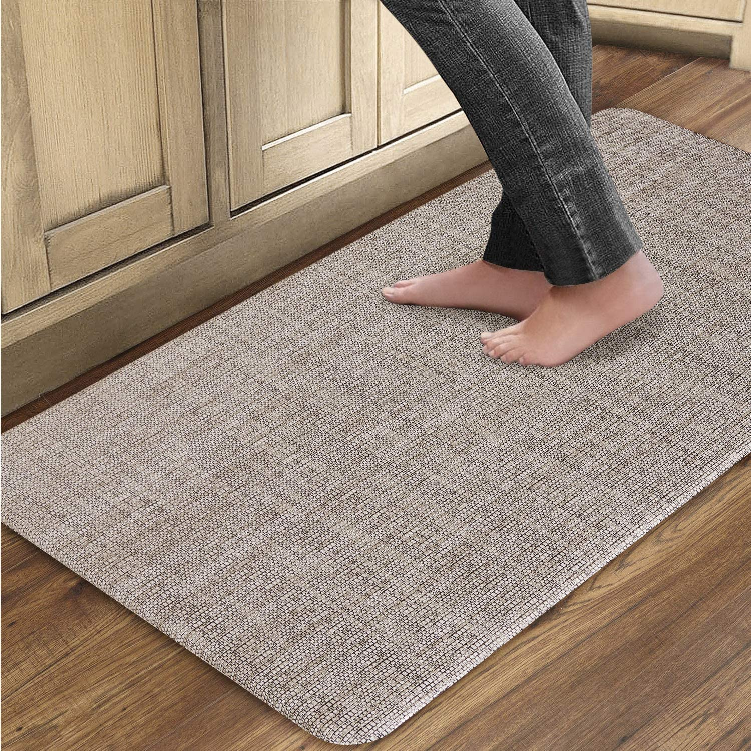 QSY Home Kitchen Anti Fatigue Rugs 20x39x1/2-Inch Floor Comfort Mats Waterproof Non Skid Thick Cushioned for Standing Desk Garages