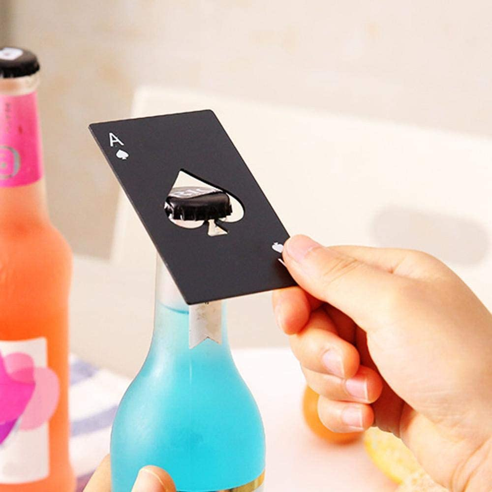 Bottle Opener Corkscrew Retro Wall Mounted Wine Beer Soda Glass Cap Opener for Kitchen Decor Accessories Home Bar Open Tools-Poker Card