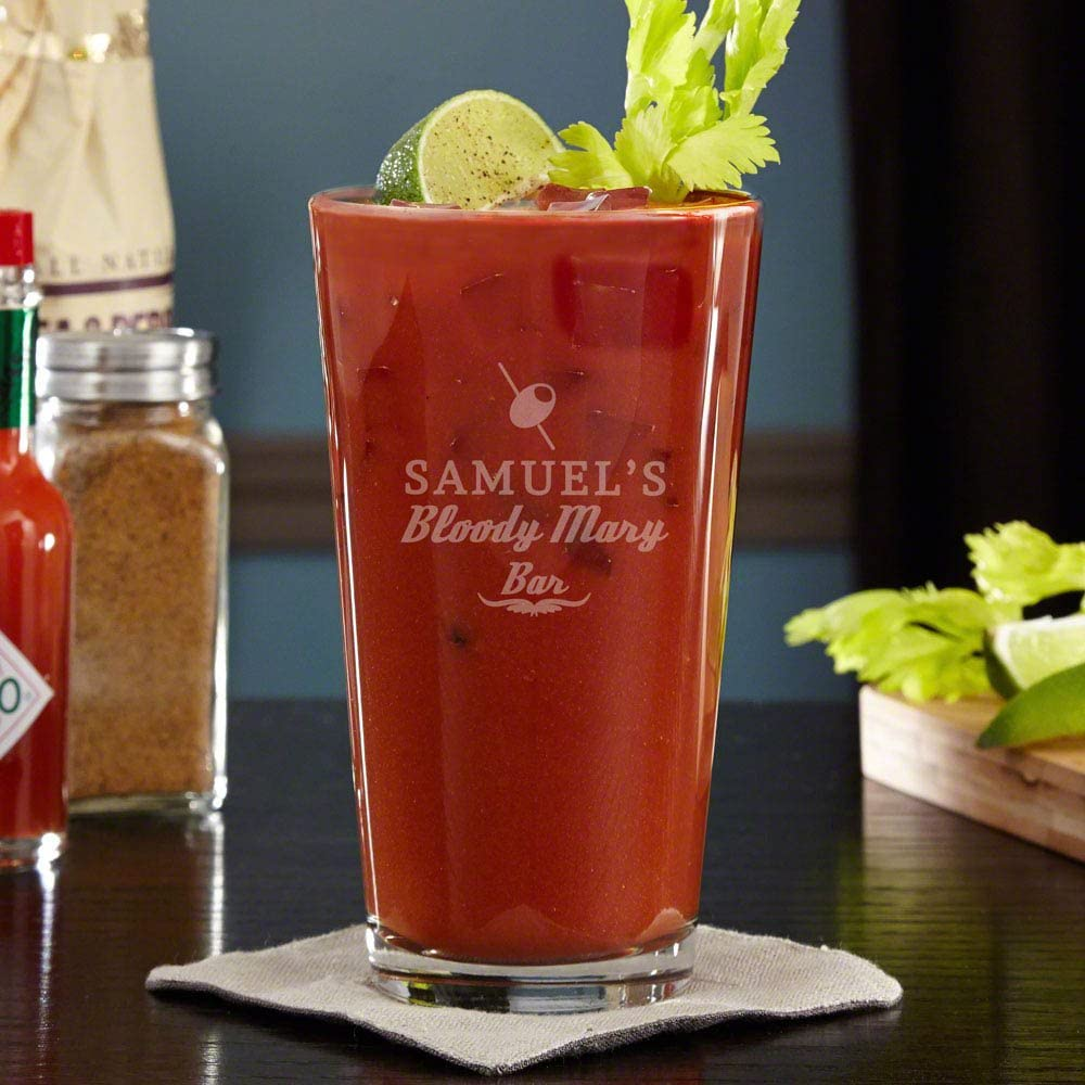 Engraved Bloody Mary Brunch Cocktail Glass (Personalized Product)