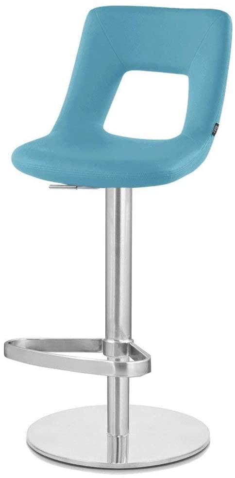 Zuri Furniture Teal Jazz Bar Stool - Round Flat Base
