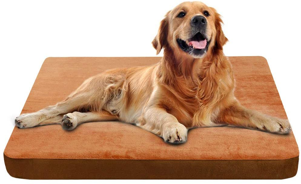 JoicyCo Large Dog Crate Bed Mat Dog Beds Mattress Pet Bed for Large Dogs Foam Cushion Anti-Slip with Washable Cover