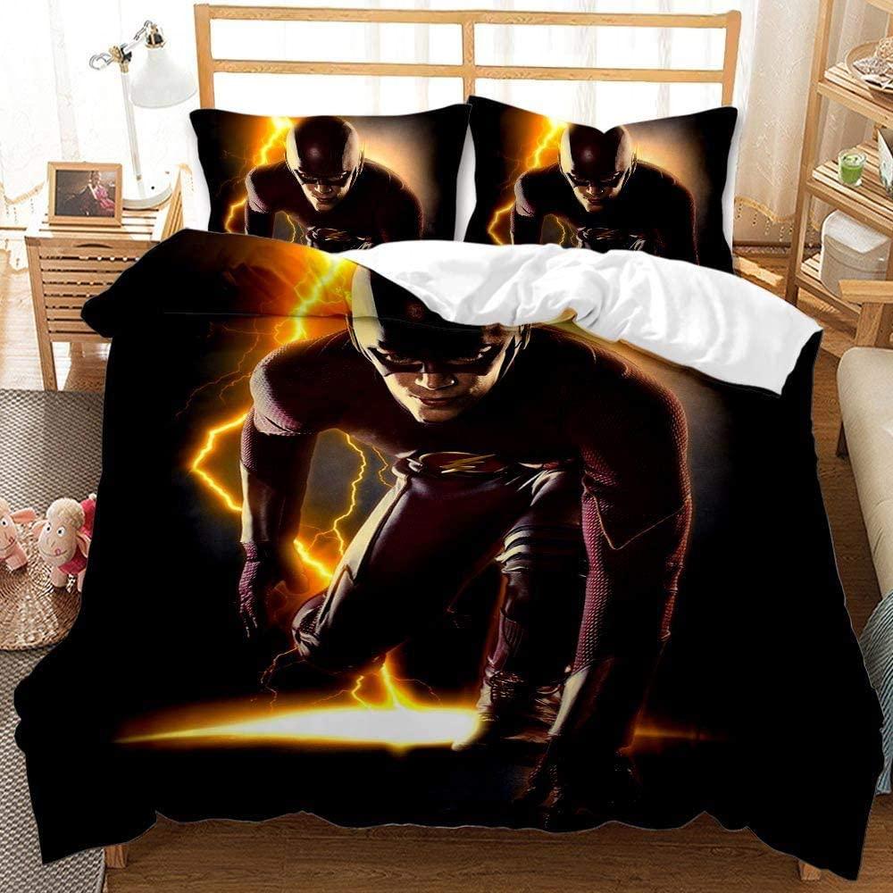 Viuseay Marvel Hero Duvet Cover Set for Boys Kids Comforter Cover Black Bedding Set King Size 3PCS(1 Duvet Cover+2 Pillow sham)
