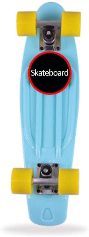 Yontree Skateboard Single-Warp Skateboard for Beginners Banana Skateboard for Kids Boys Girls Teens Adults Highway Brush Street