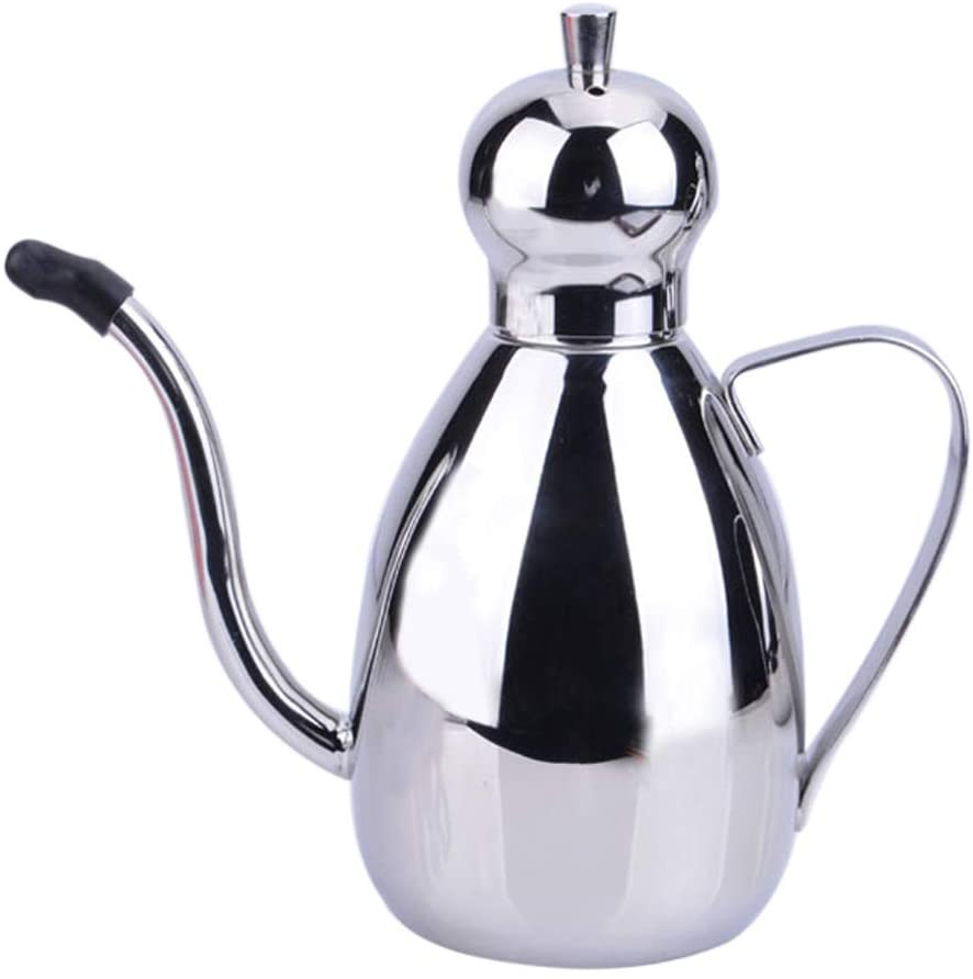 Stainless Steel Olive Oil Can Dispenser, Olive Oil Bottle, Leakproof Oil Pot, Oil Dispenser Kitchen Storage Container