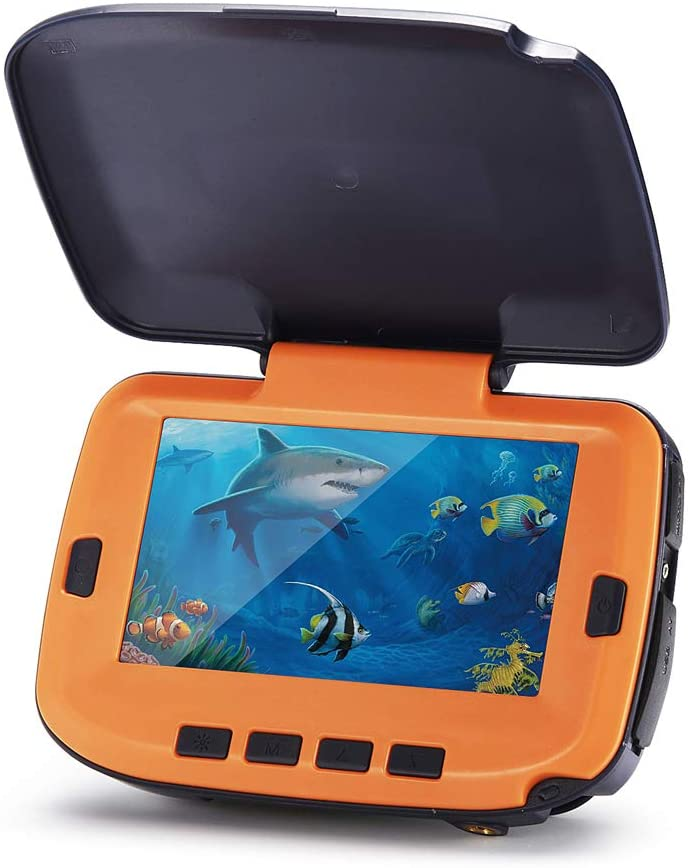 Bestwill Portable Camera Viewing System 4.3 Inch LCD Monitor, Underwater Fishing Finder HD 1000 TVL 8 Infrared LED Lights for Ice Lake Sea Boat Kayak Fishing (7HCS-4.3Inch-20M-Infrared Lights)