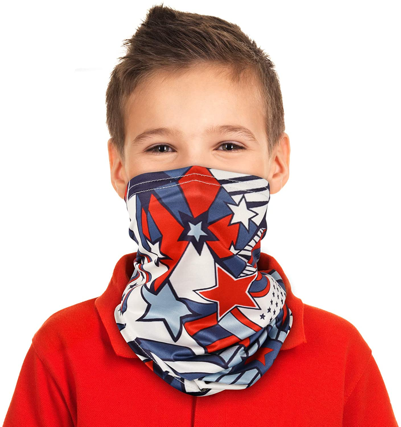 Kids Neck Gaiter, Youth Neck Gaiters Scarf for Kids, Face Coverings for Children