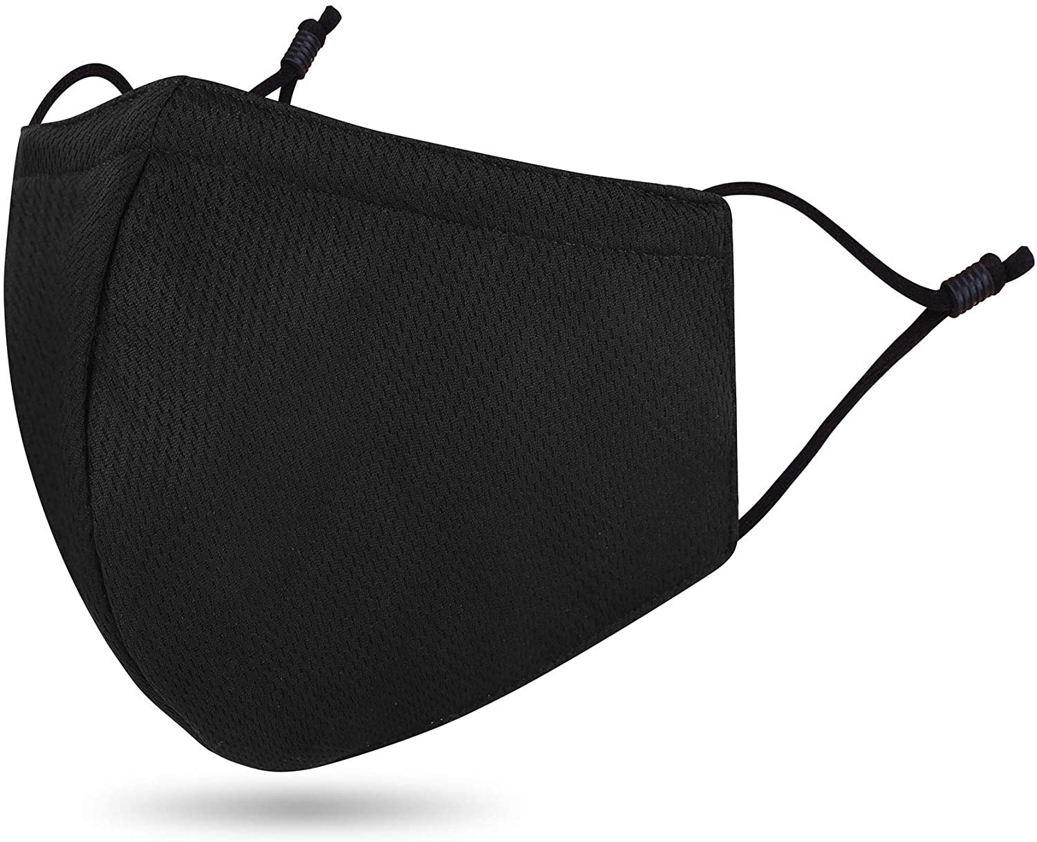 Cloth Macks Reusable Mouth Face Fabric with Nose Wire Adult, Pack 1_Black