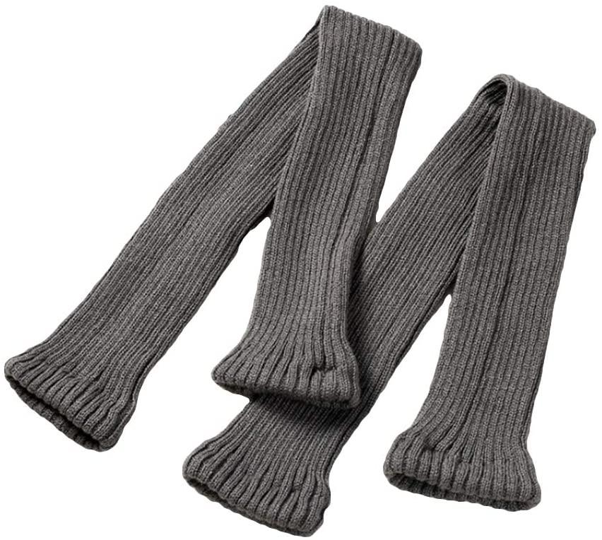 MoO1deer Womens Thigh High Socks, Over The Knee Socks, Leg Warmers, Autumn Winter Women Anti-Slip Knee High Knitted Leg Warmers Warm Long Yoga Socks for Women Dark Gray