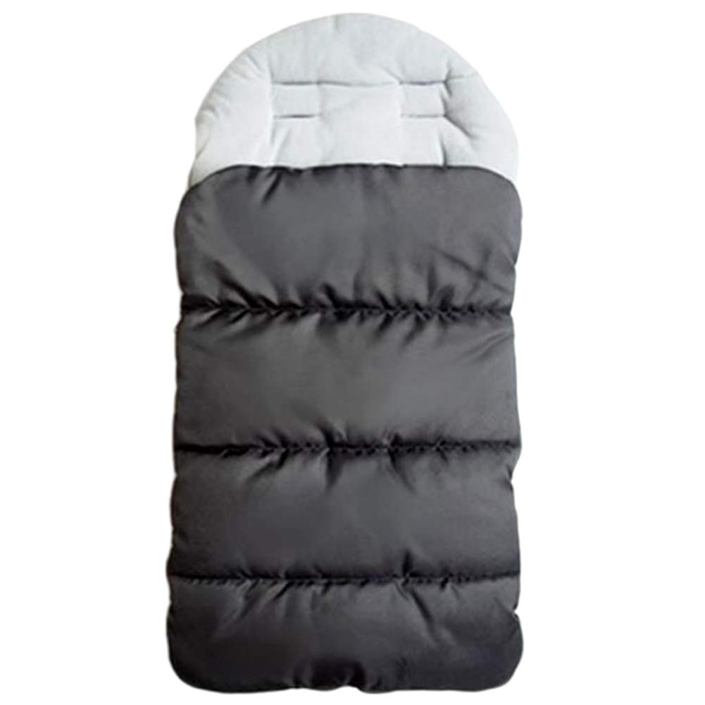 Universal Baby Stroller Sleeping Bag, Winter Outdoor Sports Baby Stroller Foot Cover, Protect Baby from The Cold of Car Seats and Strollers, Windproof, Cold and Easy to Clean (Grey)