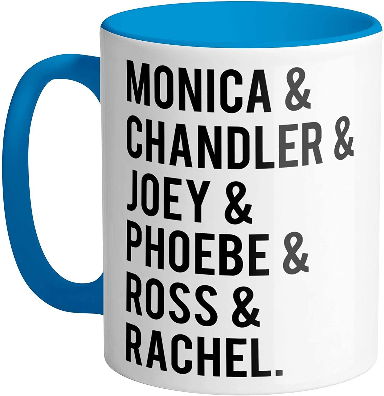 Friends TV Show Name List Blue Coffee Mug 11oz