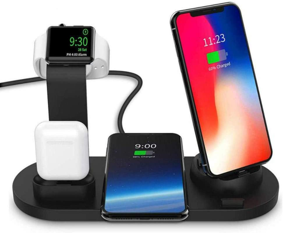 XCYPSH 3 in 1 Charging Dock Holder for Apple Watch iPhone X XS XR MAX 7 8 Plus Airpods Dock Wireless Charger Stand Station Mounts Base