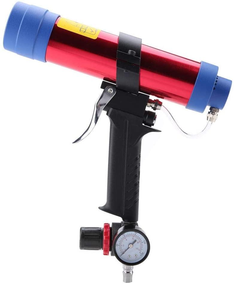 Glass Glue Sealant Gun, Labor Saving Cartridge Air Caulking Gun, for Building Decoration Solar Energy