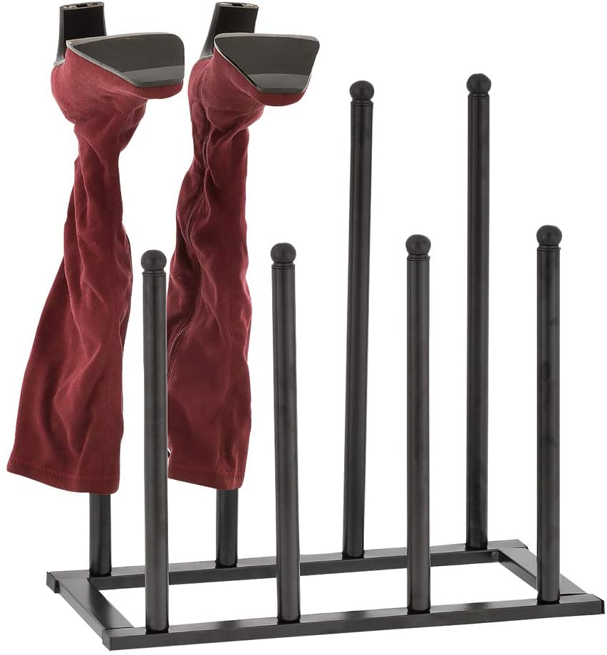 Flesser Boot Rack Shoe Organizer Free Standing 4 Pairs Boots Storage Holder for Tall Knee-High,Ankle,Rain Boots Fit Closet/Entryways