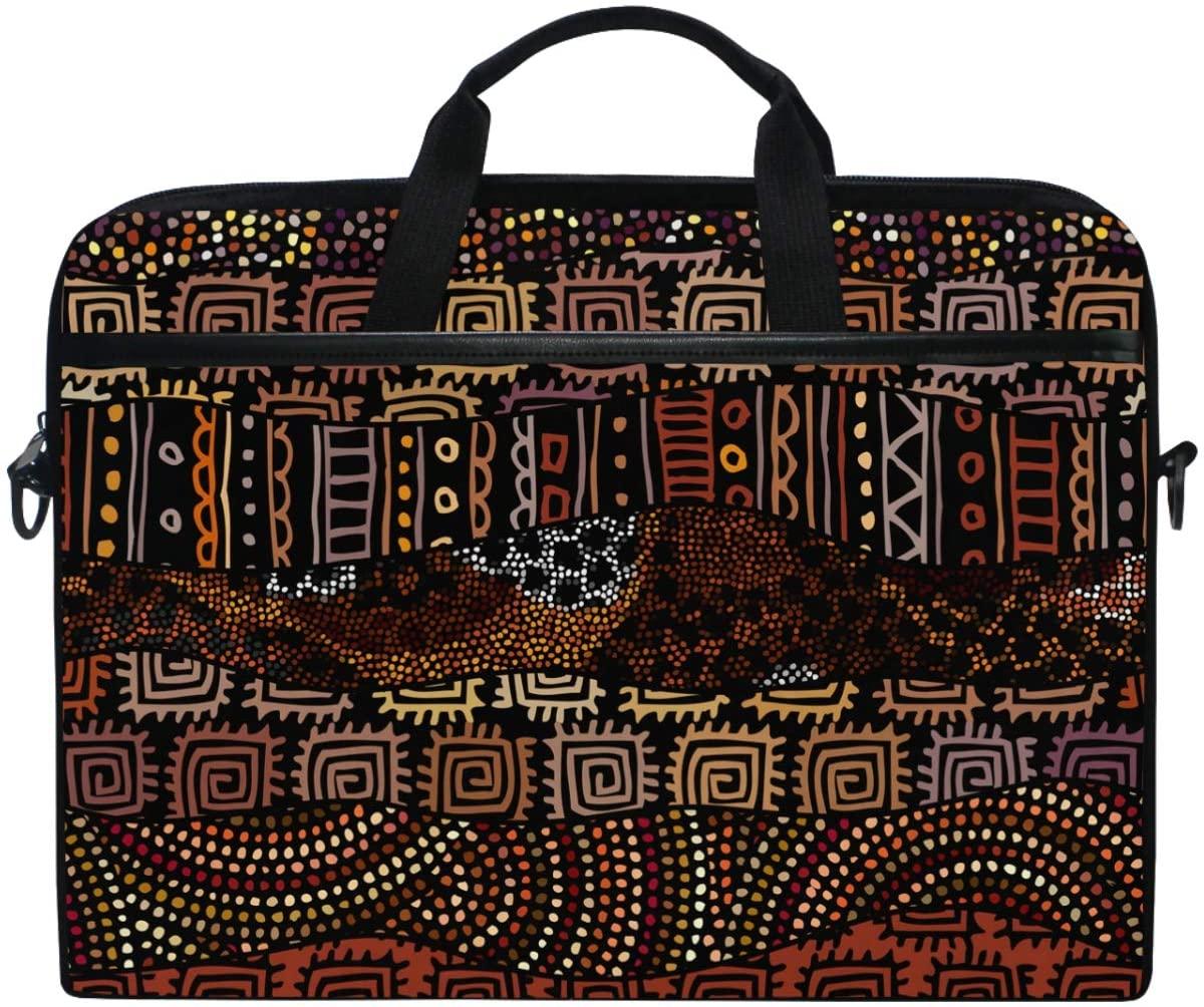 Kaariok Vintage Tribal African Bohemian Indian Primitive Laptop Shoulder Bag 13-14.5 Inch Sleeve Case Messenger Tablet Briefcase with Handle Strap for Men Women Boys Girls