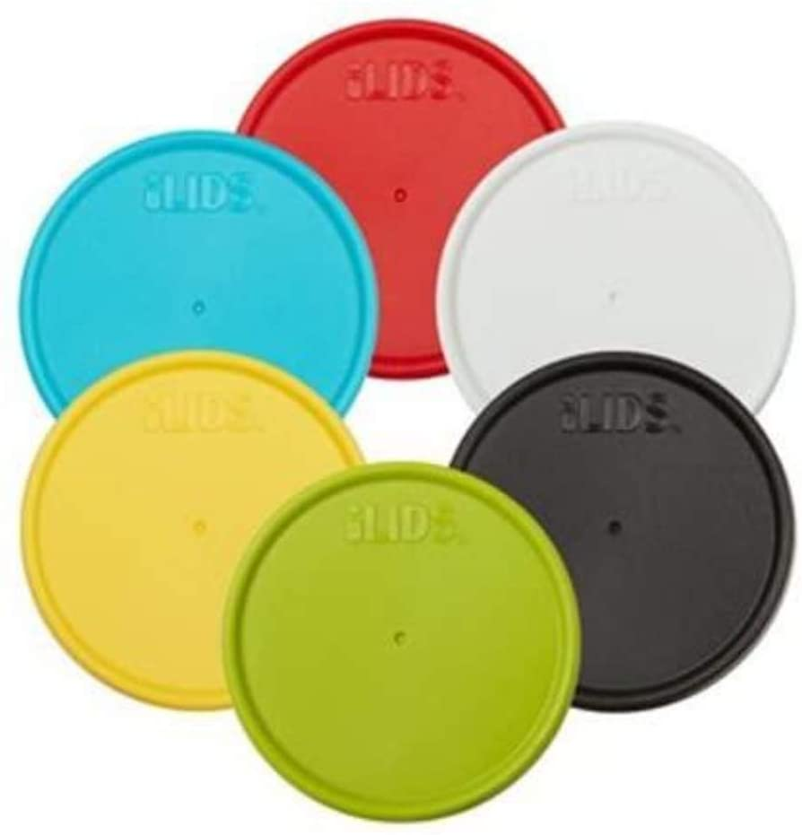 iLIDS Mason Jar Storage Lid, Regular Mouth, Classic Colors, Pack of 6