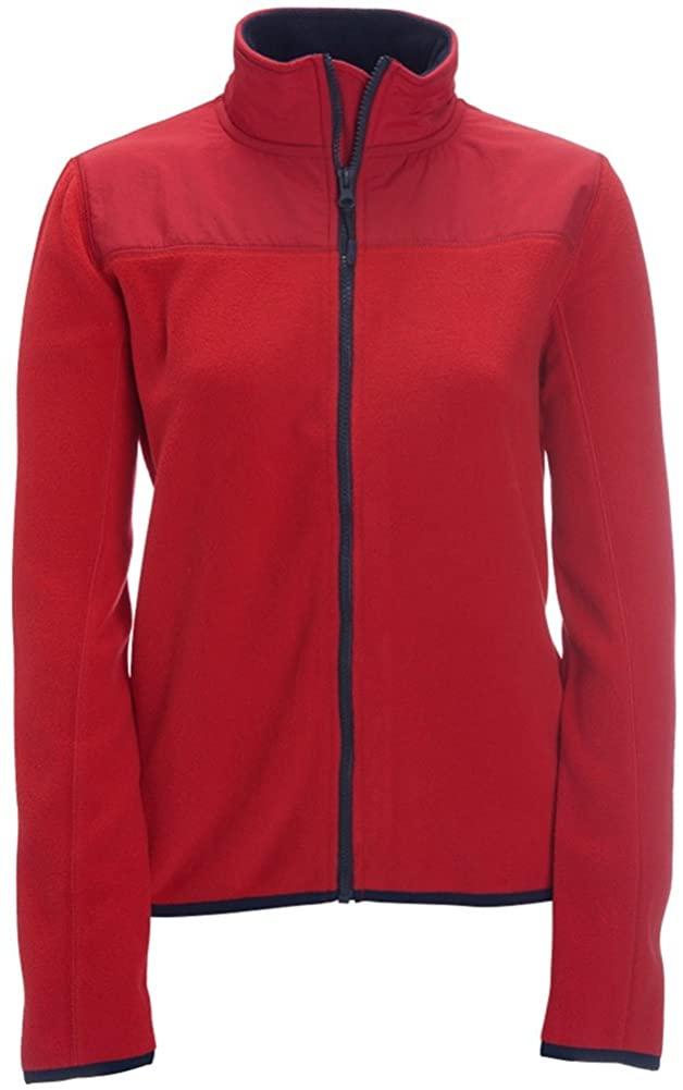 Aeropostale Womens Solid Full-Zip Fleece Jacket, Red, X-Large