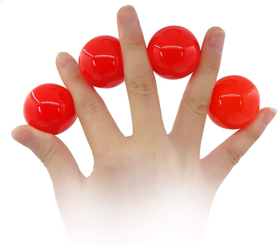 Enjoyer Multiplying Balls Magic Tricks One to Four Balls Gimmick Magic Props Stage Illusion Comedy Magician Accessories (Red)