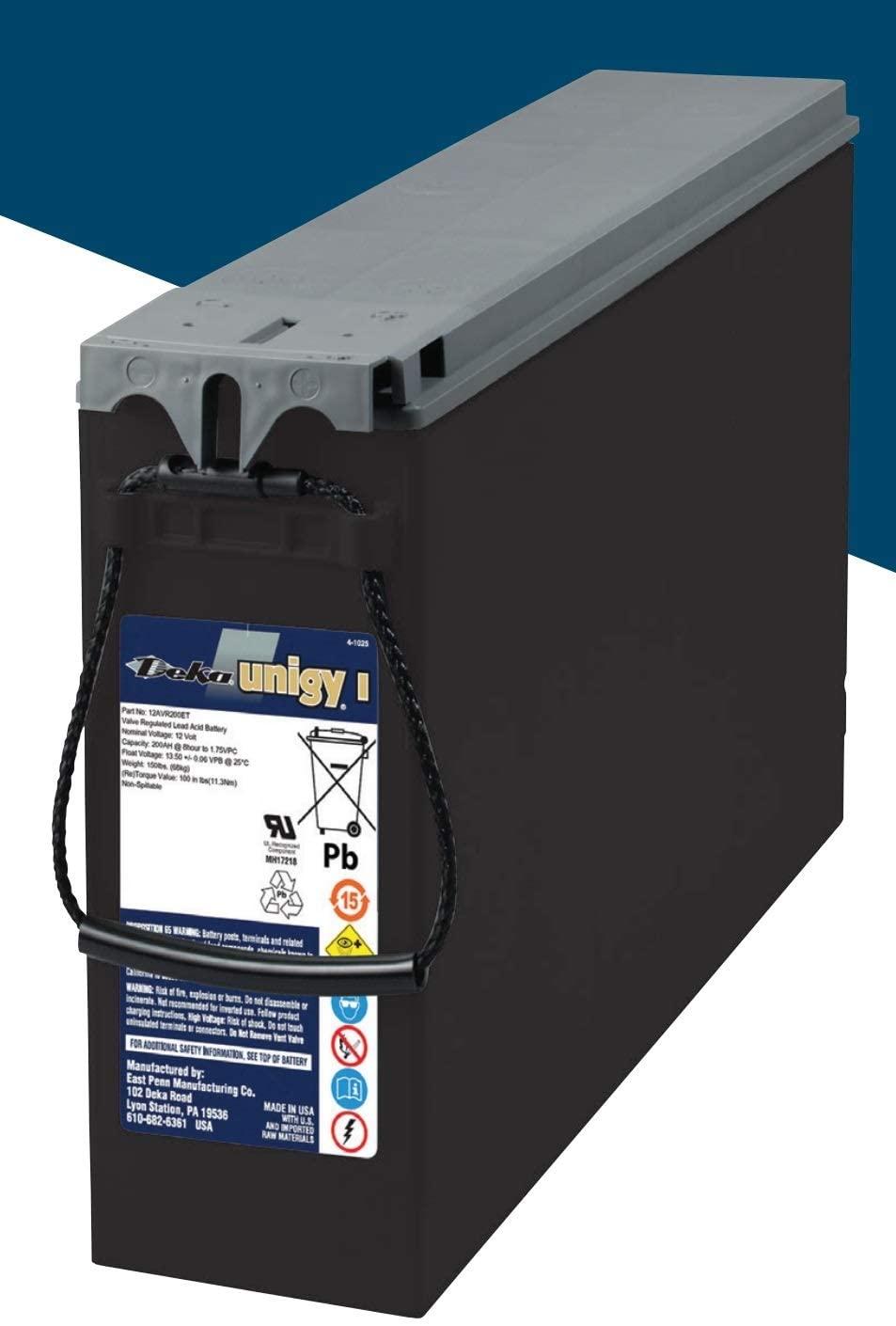 Deka 12-Volt, 200 amp Hour Front Terminal Access Battery