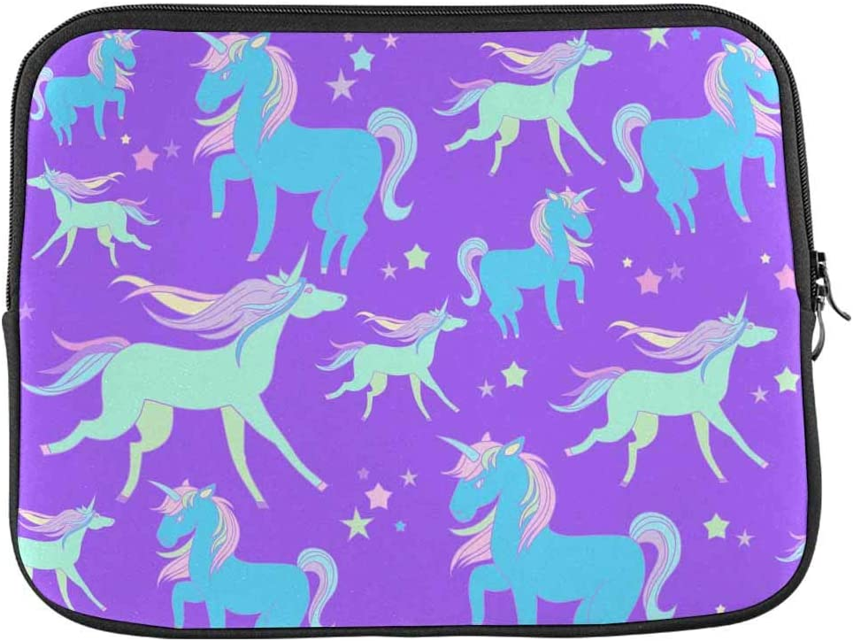 INTERESTPRINT Laptop Water Resistant Sleeve Bag Bright Unicorn Stars Notebook Computer Case Cover 11 Inch 11.6 Inch