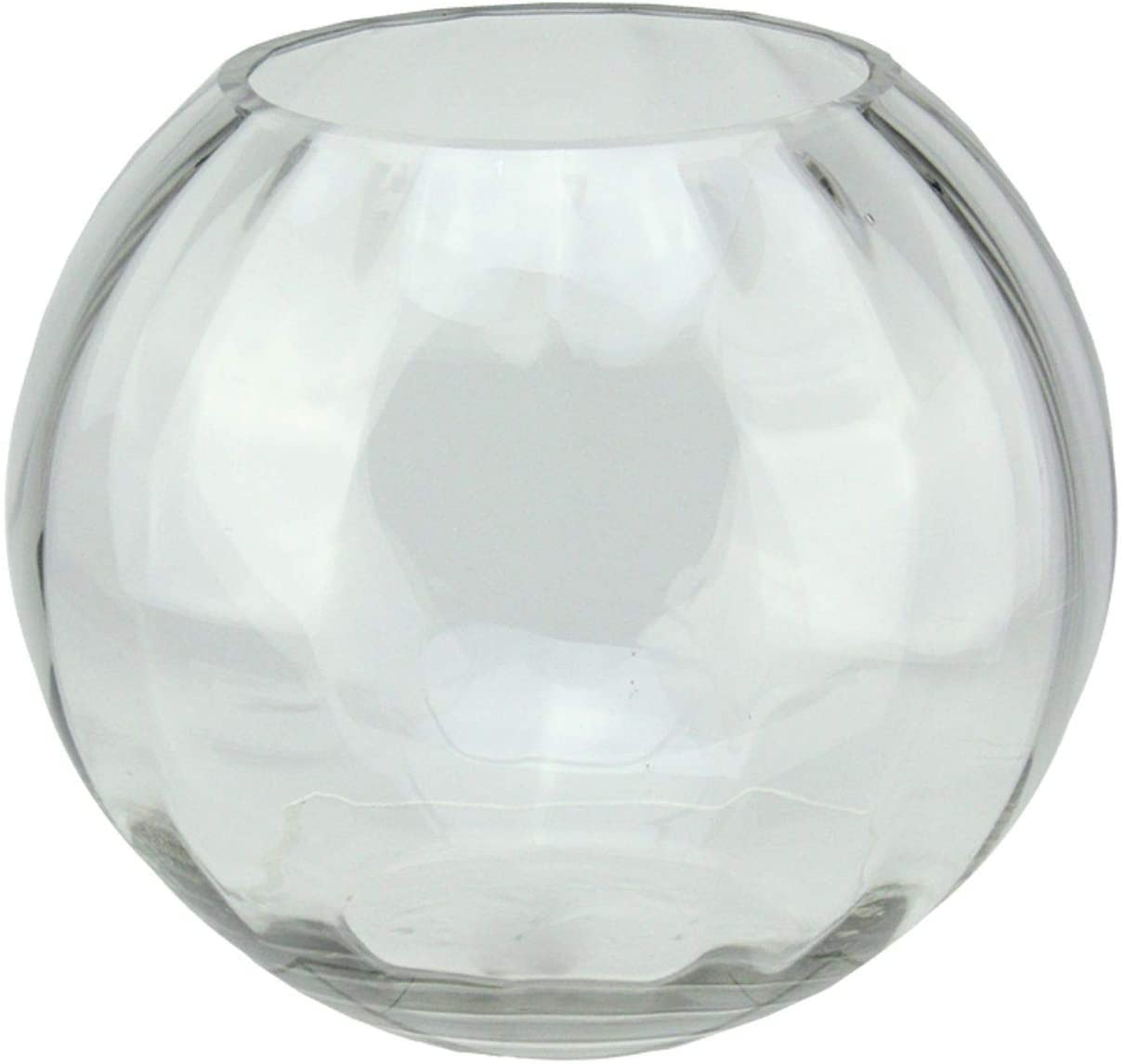 Northlight 8.75 Clear Round Segmented Transparent Glass Bowl
