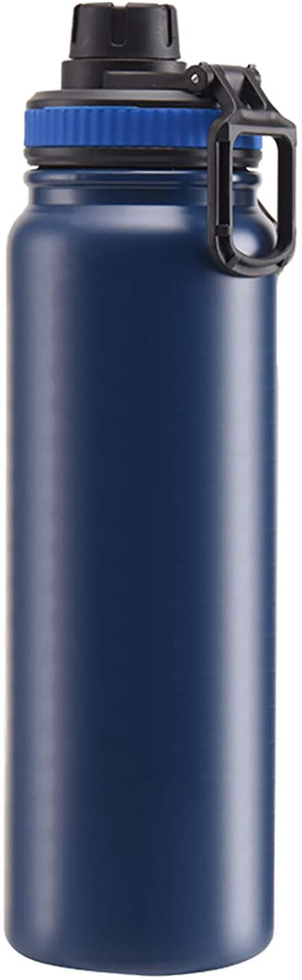 JOYSIP 20/27oz Stainless Steel Water Bottle with Spout Lid/Double Walled Vacuum Insulated Simple Thermo Mug, Perfect for Traveling Camping Hiking, Navy Blue