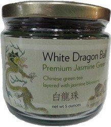Premium Dragon Pearl Jasmine Green Tea- Loose Leaf (5 oz)