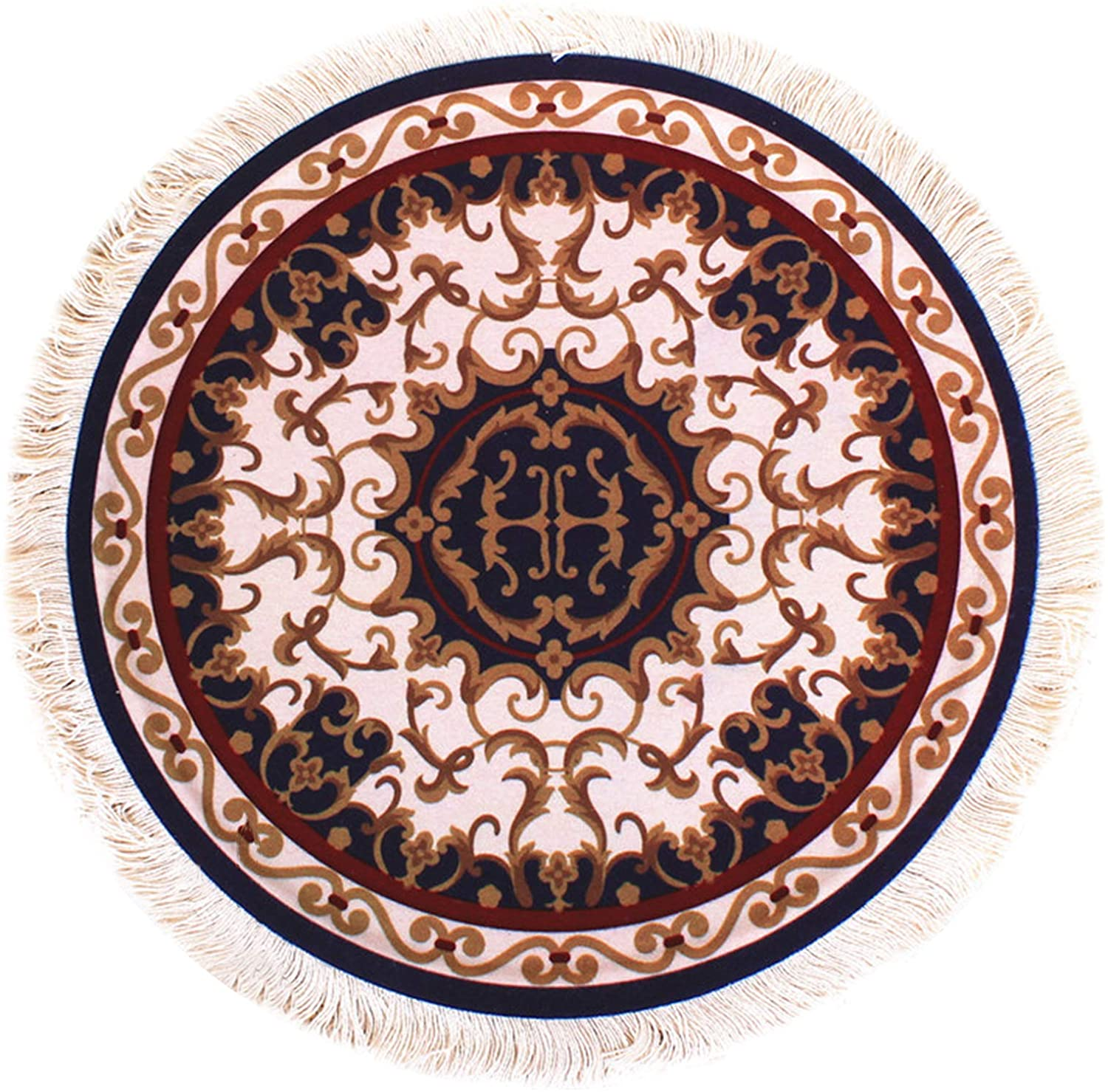 Queen.Y Round Coaster,10Inch Round Coaster Ethnic Style Table Drink Holder Plate Pad Mouse Mat Premium Design Decorative Coasters