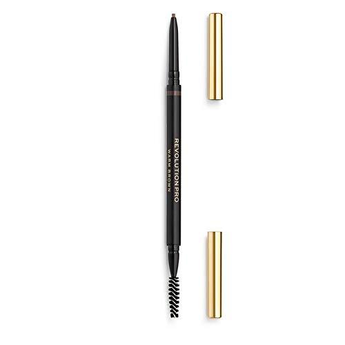 Makeup Revolution Pro Define Fill Micro Brow Pencil, Warm Brown