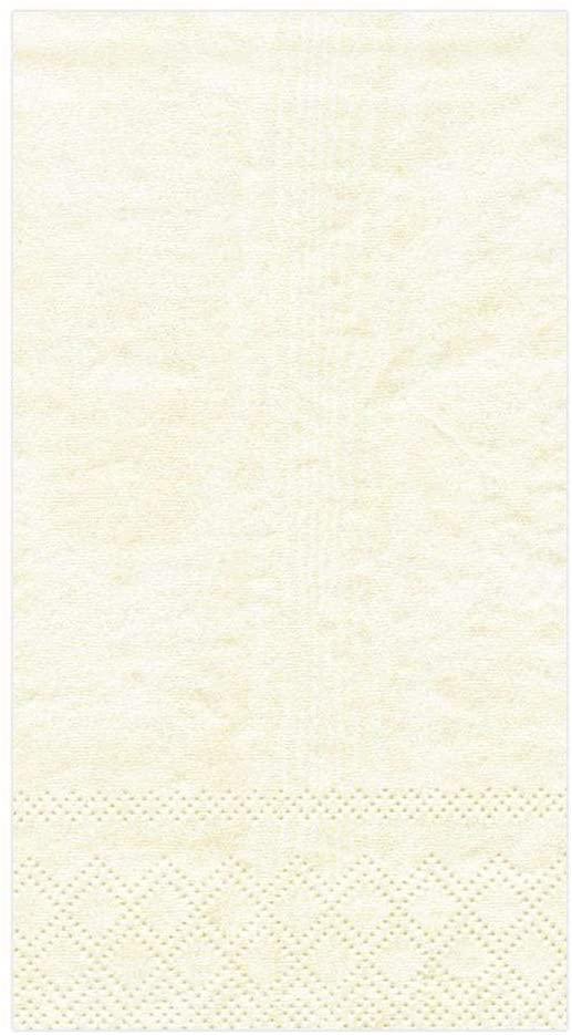 Caspari Moiré Paper Guest Towel Napkins in Ivory - Four Packs of 15