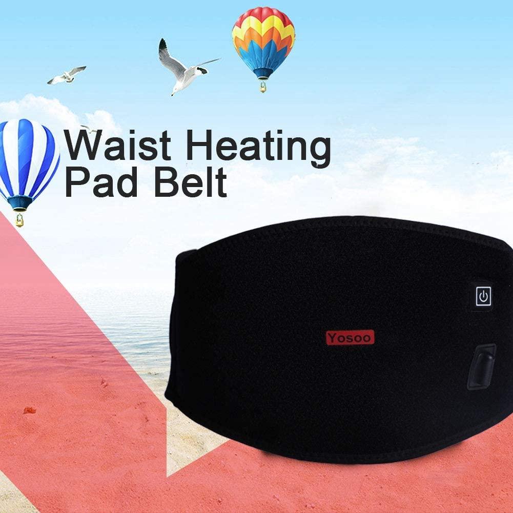 Lumbar Wrap with 3 Heating Grade Heated Waist Belt Lower Back Waist Belt for Waist