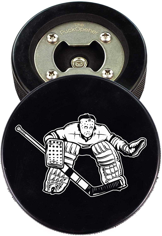 The PuckOpener - Hockey Puck Bottle Opener - Goalie