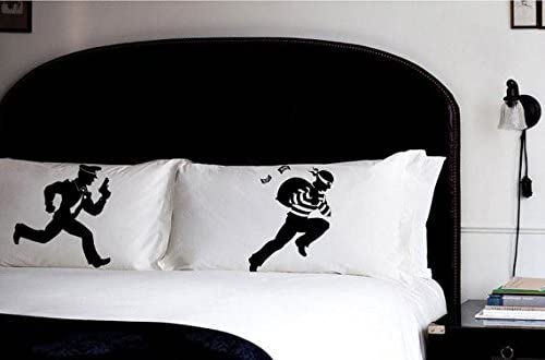 Cops and Robbers Pillowcases Boys Room Decor Pillow Fight Set Gift Ideas