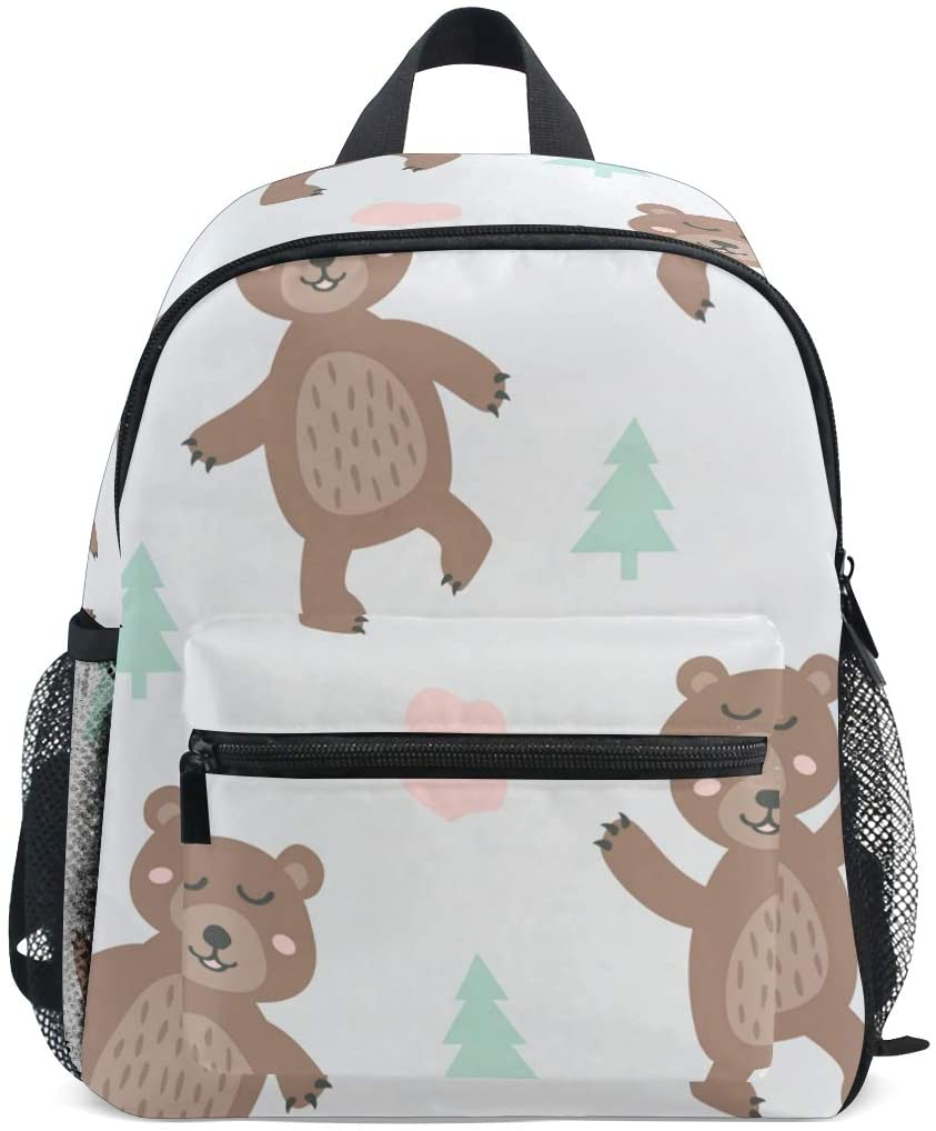 Cute Toddler Backpack Dancing Bear Mini Travel Bag for Baby Girl Boy Age 2-7