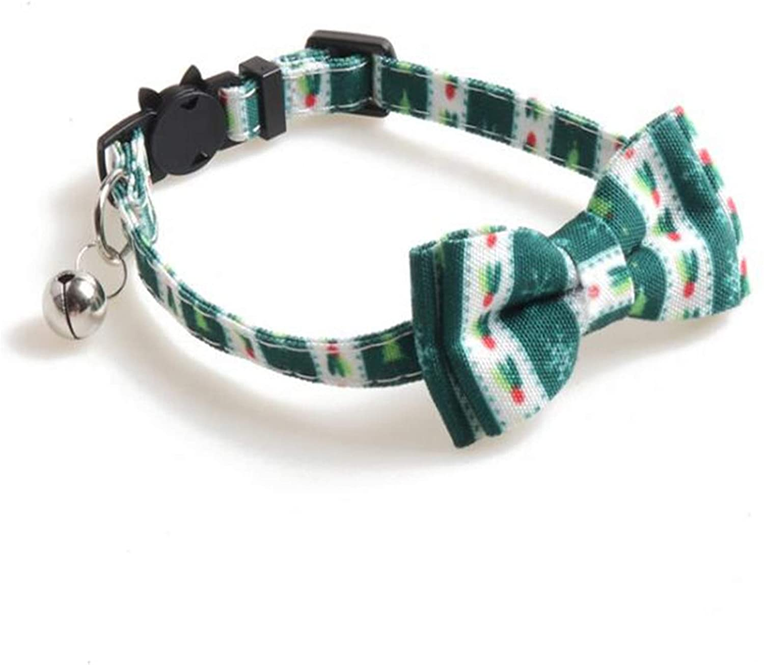 Grneric Christmas Breakaway Buckle Cat Collar with Bell Adjutable Safety Collars for Kitty Puppy