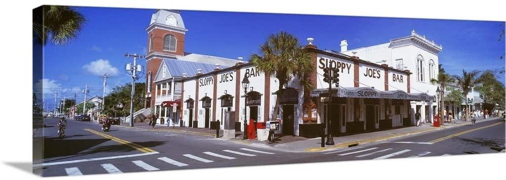 Sloppy Joes Bar Key West FL Canvas Wall Art Print, 36x12x1.25