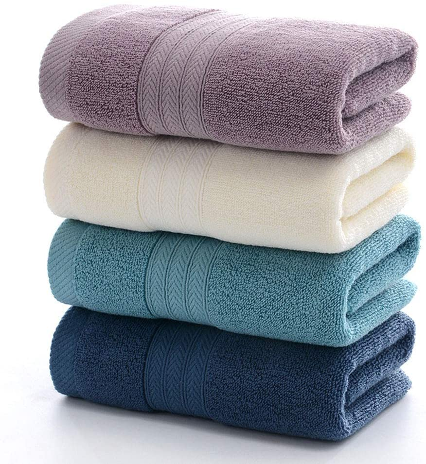 Tian Home Ultra Thick & Soft Cotton Hand Towels(4-Pack,14x29inch) for Bath, Hand, Face, Gym and Spa