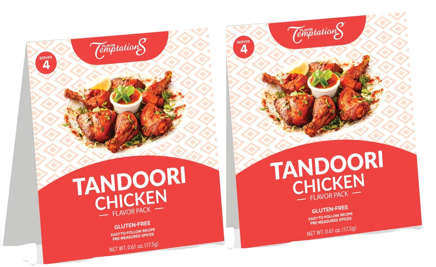 TANDOORI CHICKEN CURRY AND CUMIN RICE INDIAN FOOD SPICES by Flavor Temptations. Home Cook MASALA Dishes with Beginner Seasoning Set. Gluten free, Salt free. 2 Packs (Total 8 Servings)