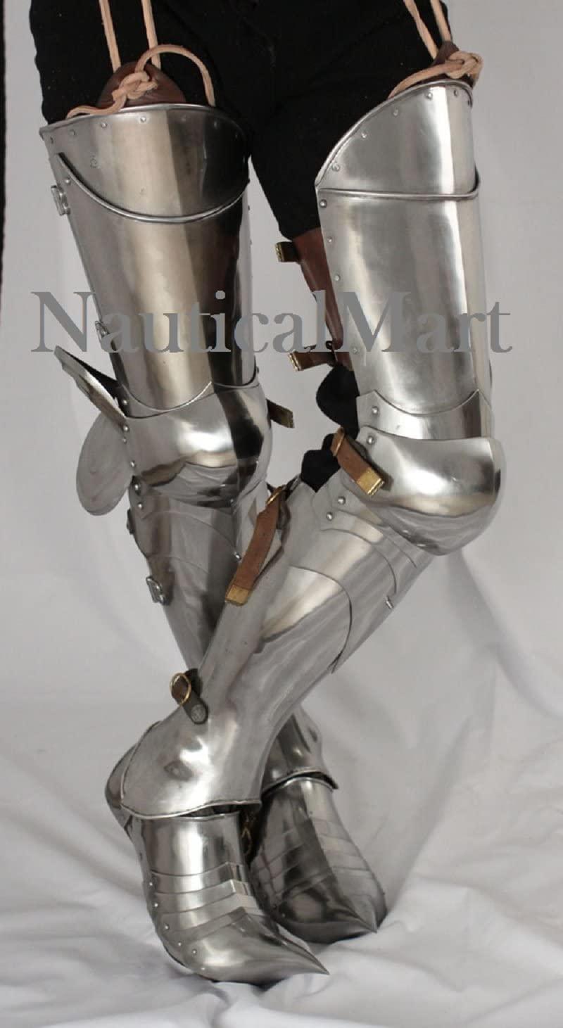 NauticalMart LARP Full Leg Armor Re-Enactment SCA Armoury Medieval Armor Guard