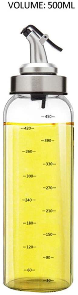 JINTONG Oil Sprayer Dispenser,Olive Oil Sprayer,Oil Versatile Glass Spray Olive Oil Bottle Vinegar Glass,for Cooking,Roasting,Grilling(500ml)
