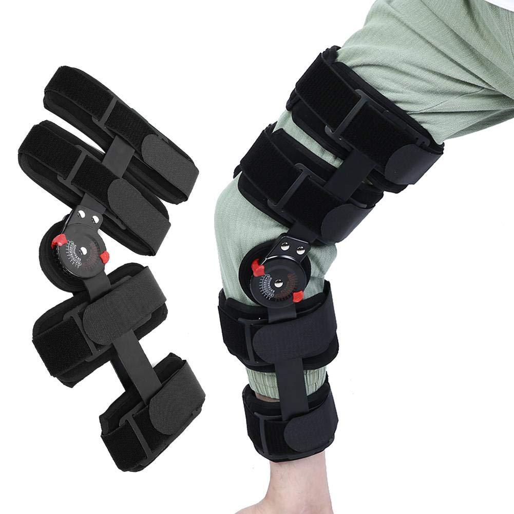 Professional Knee Brace, Hinged Knee Brace, Breathable & Adjustable Knee Support Stabilizer, Leg Brace, Knee Compression Sleeve Support for Men Women