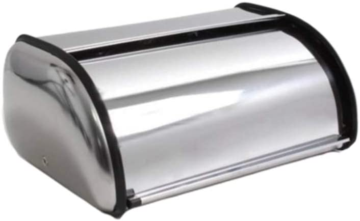 YARDWE Stainless Steel Bread Box for Kitchen Bread Container Bread Storage Holder Bin Large Capacity Bread Keeper Bakery Shop Christmas Home Supplies S No Window No Handle Silver