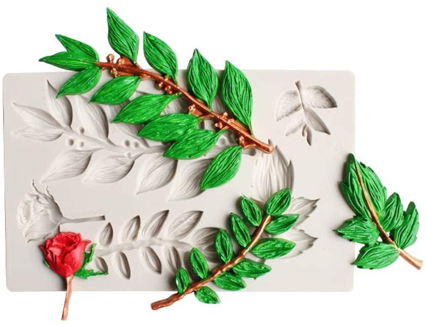 OTentW Silicone Mold Leaf Cookie Fondant Mold DIY Chocolate Cake Decorating Decorating Baking Tools