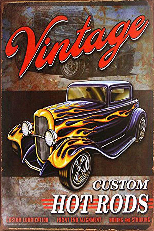 Legends Hot Rod Garage Rat Rods Gas Vintage Decor Metal Wall Signs for Home,Bar,Diner, Pub AB25
